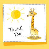 Thank you love and help animals card vector illustration