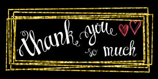 Thank you so mach hand lettering Stock Images