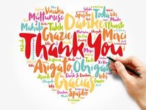 Thank You in many languages, love heart