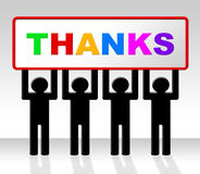 Thank You Means Message Grateful And Thankfulness Stock Photography