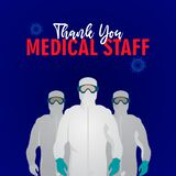 Thank you Medical Staff Corona virus Covid-19 Vector Template Design Illustration