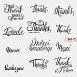 Thank you, merci beaucoup, danke- typographic Royalty Free Stock Photography