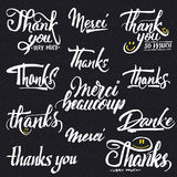 Thank you, merci beaucoup, danke- typographic Royalty Free Stock Images