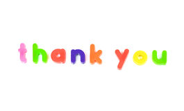 Thank you message. Fridge magnet thank you message Royalty Free Stock Image