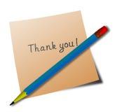 'thank you' message Royalty Free Stock Photos