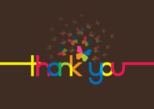 Thank You message vector illustration