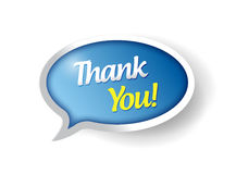 Thank you message bubble illustration design Stock Photo