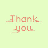 Thank you message card Royalty Free Stock Photography