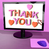 Thank You Message On Computer Royalty Free Stock Photo