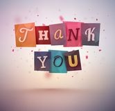 Thank You. Message, eps 10 Royalty Free Stock Photo