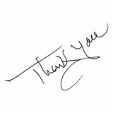 Thank you message isolated Royalty Free Stock Image