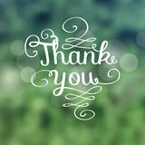 Thank you message made of growing branches Stock Photo