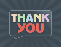 Thank You Message Note Card Stock Images