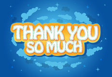 Thank You Message Note Card. Playful children's like thank you card stock illustration
