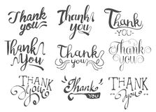 Thank You Message Set Royalty Free Stock Image