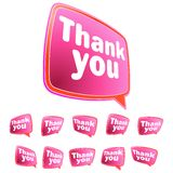 Thank you message stickers set.  + EPS8 Stock Photos