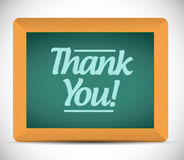 Thank you message written on a chalkboard Royalty Free Stock Image