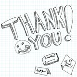 Thank You Messages Royalty Free Stock Photography