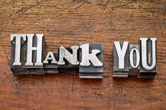 Thank you in metal type Royalty Free Stock Images