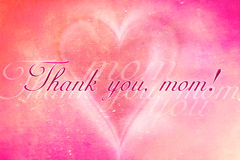 Thank you, mom. Graphic card for your mother with text Thank you, mom Stock Illustration