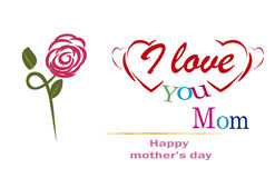 Thank you Mom,  happy mothers day Stock Images