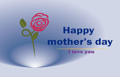 Thank you Mom,  happy mothers day Royalty Free Stock Photo