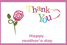 Thank you Mom,  happy mothers day Royalty Free Stock Image