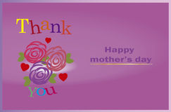 Thank you Mom,  happy mothers day. Other's Day,Concept Royalty Free Stock Photography