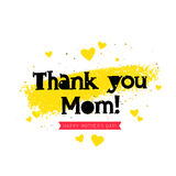 Thank you Mom. Lettering Stock Photo