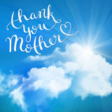 Thank you Mother Stock Photo