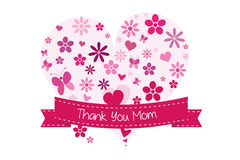 Thank you mother's day card Stock Photo
