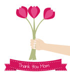 Thank you mother's day card Royalty Free Stock Image