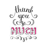 Thank you so much. Vector illustration. Royalty Free Stock Photo