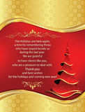 Thank You New Year business greeting card Royalty Free Stock Images