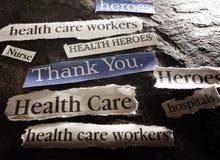 Thank You news headline for hero healthcare workers during Coronavirus