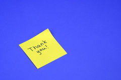 Thank You Note Royalty Free Stock Images