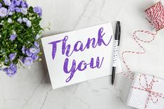 Thank You Note Stock Image