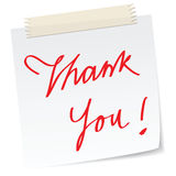 Thank you note Stock Images