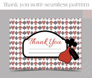 Thank you Note - Bottle from Wonderland. Printable Vector Illustration for Graphic Projects, Parties and the Internet Royalty Free Stock Photos