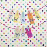 Thank You. Note colorful retro stock image