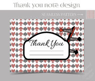Thank you Note - Direction sign from Wonderland. Printable Vector Illustration for Graphic Projects, Parties and the Internet Stock Images