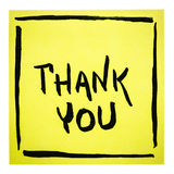 Thank you -  note Stock Photo