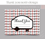 Thank you Note - Key from Wonderland. Printable Vector Illustration for Graphic Projects, Parties and the Internet Royalty Free Stock Photography