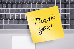 Thank You Note on Keyboard Royalty Free Stock Photo