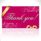 Thank you note, lettering - vector eps Royalty Free Stock Image