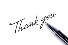 Thank you. Note on white background royalty free stock images