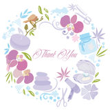 A Thank you note  from your Spa Center Stock Images