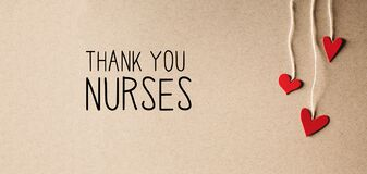 Thank You Nurses message with small hearts