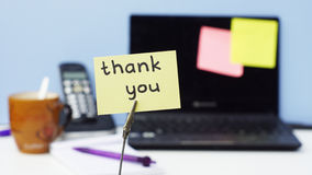 Thank you at the office Stock Images