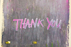 Thank you. Painted on a black wooden board Royalty Free Stock Photos